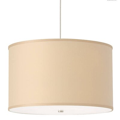 Gorgias 4-Light Drum Pendant Finish: Satin Nickel, Shade Color: Desert Clay