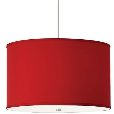Gorgias 4-Light Drum Pendant Finish: Satin Nickel, Shade Color: Red