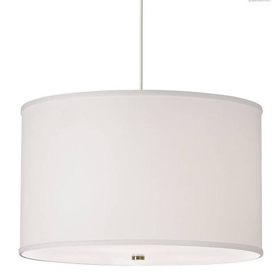 Gorgias 4-Light Drum Pendant Finish: Satin Nickel, Shade Color: White