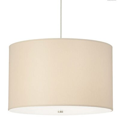 Gorgias 4-Light Drum Pendant Finish: Satin Nickel, Shade Color: Washable Ivory