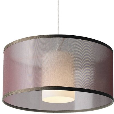 Bricker 1-Light Drum Pendant Shade Color: Brown
