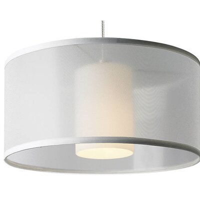 Bricker 1-Light Drum Pendant Shade Color: White