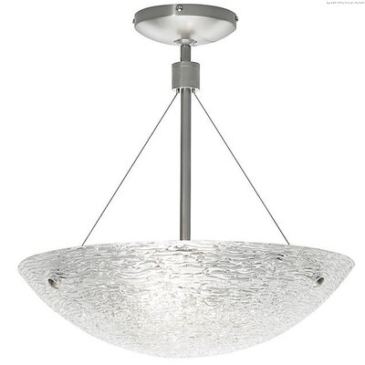 Pinon Suspension Semi Flush Mount Fixture Finish: Antique Bronze