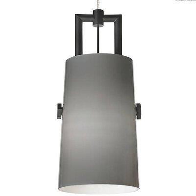 Brickey 1-Light Mini Pendant Shade Color: Smoke
