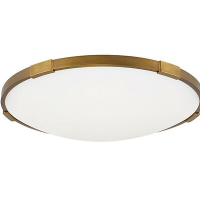 Sharonda 13-Light LED Flush Mount Fixture Finish: Aged Brass