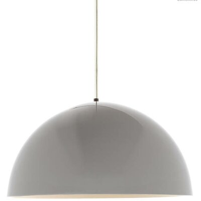 Hillside 1-Light Inverted Pendant Finish: White, Shade Color: Gloss White/White