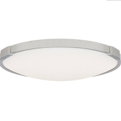 Sharonda LED Flush Mount Fixture Finish: Chrome