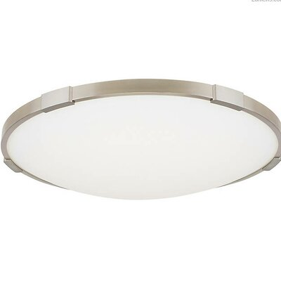Sharonda LED Flush Mount Fixture Finish: Satin Nickel