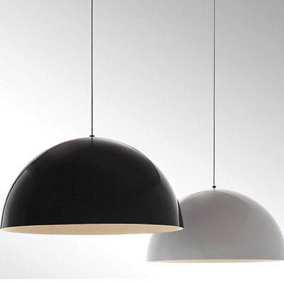 Hillside 1-Light Inverted Pendant Finish: Black, Shade Color: Gloss White/White