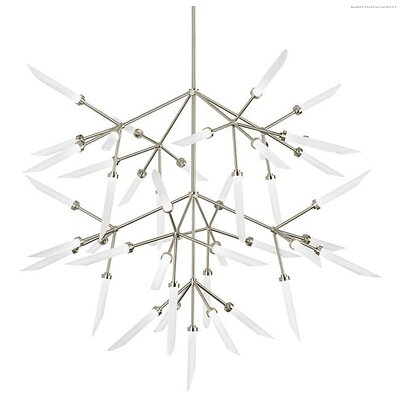 Herlev 45-Light LED Sputnik Chandelier Finish: Aged Brass