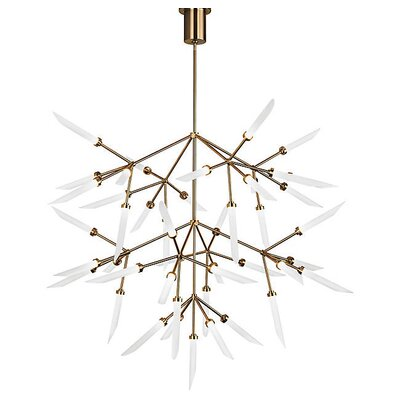 Herlev 45-Light LED Sputnik Chandelier Finish: Satin Nickel