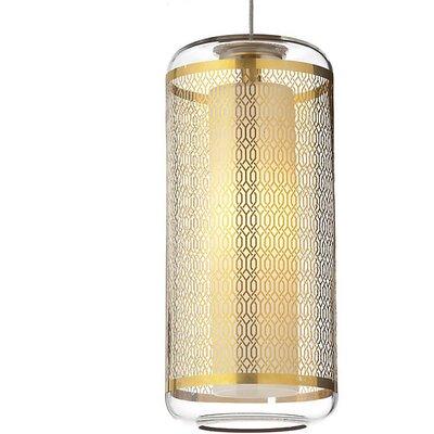 Spencerian 1-Light Mini Pendant Finish: Clear-Polished Gold