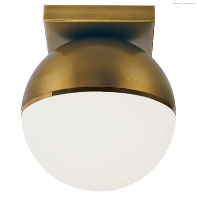 Godwin LED Semi Flush Mount Fixture Finish: Aged Brass/Bright Brass