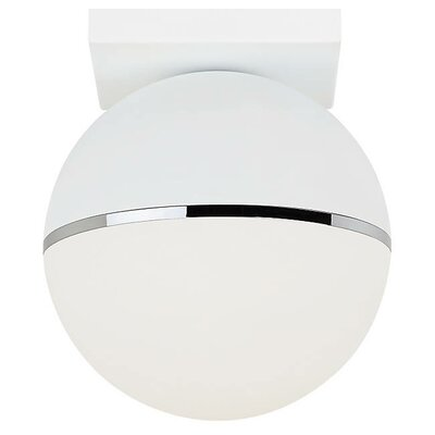 Godwin LED Semi Flush Mount Fixture Finish: Matte White/Chrome