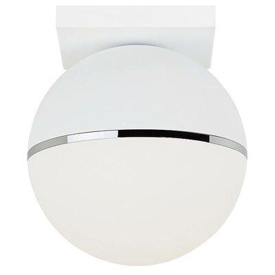 Godwin LED Semi Flush Mount Fixture Finish: Matte White/Chrome