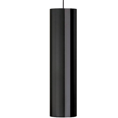 Pinter 1-Light Geometric Pendant Finish: Black, Shade Color: Gloss Black