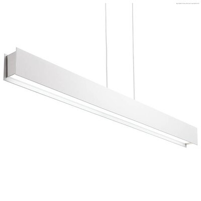 Pereira Linear Suspension LED Geometric Pendant Shade Color: White Rubberized