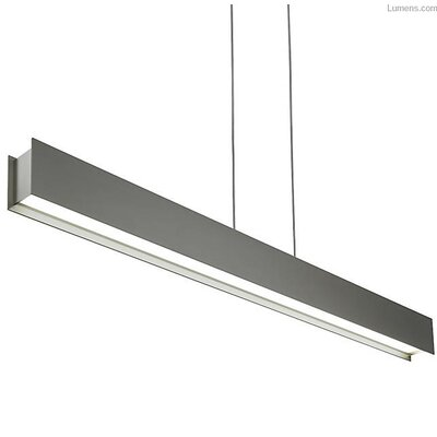 Pereira Linear Suspension LED Geometric Pendant Shade Color: Gray Rubberized