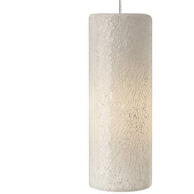 Veil 1-Light Geometric Pendant Finish: Satin Nickel, Shade Color: White/Silver