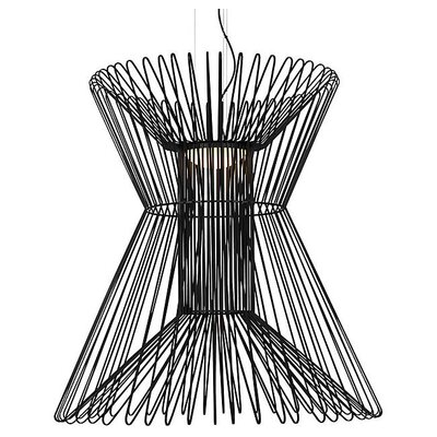 Penrod LED Geometric Pendant Shade Color: Matte Black