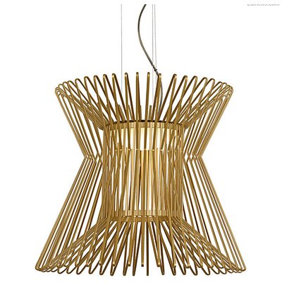 Penrod LED Geometric Pendant Shade Color: Satin Gold