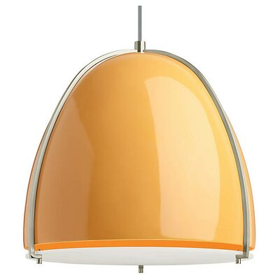 Gossage 1-Light LED Pendant Finish: Satin Nickel, Shade Color: Tangerine