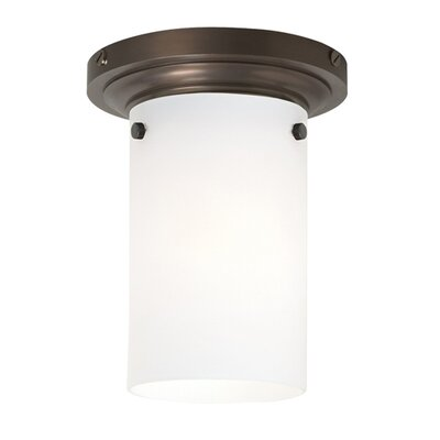 Clark 1-Light Flush Mount Shade Finish / Finish / Bulb Type: Havana Brown / Antique Bronze / Incandescent