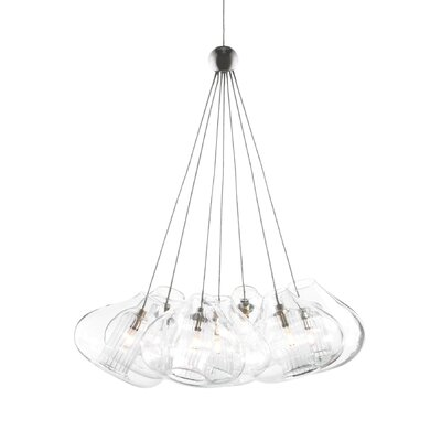 Cheers 7-Light Two-Circuit Monorail Track Pendant Finish: Chrome