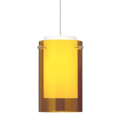 Echo 1-Light Mini Pendant Shade Color: Amber, Finish: Satin Nickel