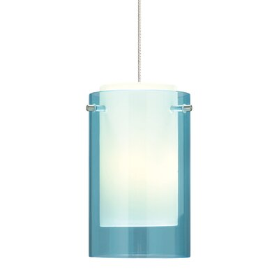 Echo 1-Light Mini Pendant Finish: Satin Nickel, Shade Color: Aquamarine