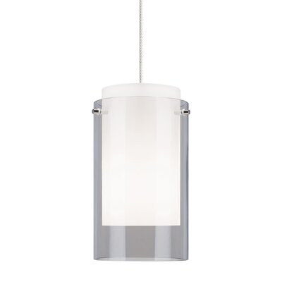 Echo 1-Light Mini Pendant Finish: White, Shade Color: Smoke