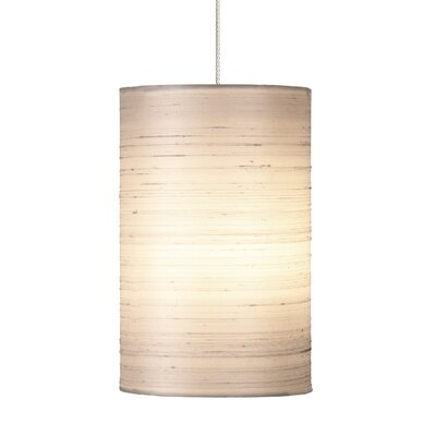 Fab 1-Light Mini Pendant Base Finish: Satin Nickel, Shade Color: White, Mounting Type: Kable�Lite