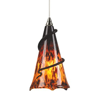 Ovation 1-Light 2-Circuit Mini Track Pendant Finish: Satin Nickel, Bulb Type: Incandescent, Trim: Amber Ball