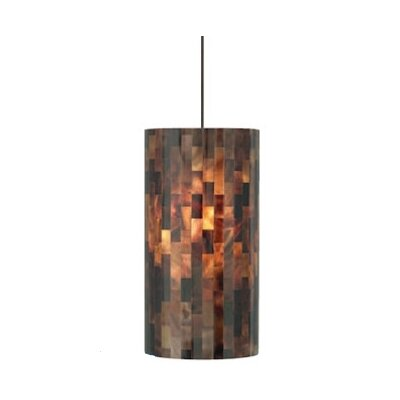 Playa 1-Light Pendant Finish: Brown/Satin Nickel
