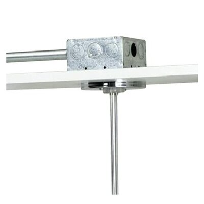 "Kable Lite 4"" Round Dual Feed Canopy Finish: Chrome"