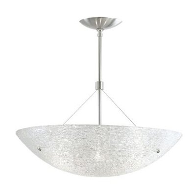 Trace 4-Light Bowl Pendant Size: 36 x 23.5 W x 23.5 D, Finish: Satin Nickel, Bulb Type: Fluorescent