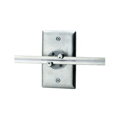 Wall MonoRail Rectangular Power Feed Canopy Finish: Satin Nickel