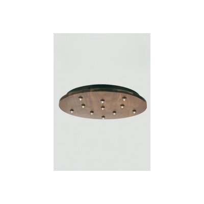 FreeJack 11-Port Round Wood Canopy Finish: Antique Bronze, Color: Brown / Walnut, Voltage: 120V IN / 12V OUT LED