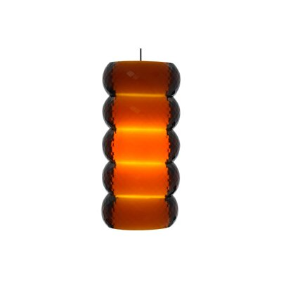 Bangle 1-Light Kable Lite Pendant Finish: Satin Nickel, Color: Amber, Bulb Type: 1 x 50W Halogen