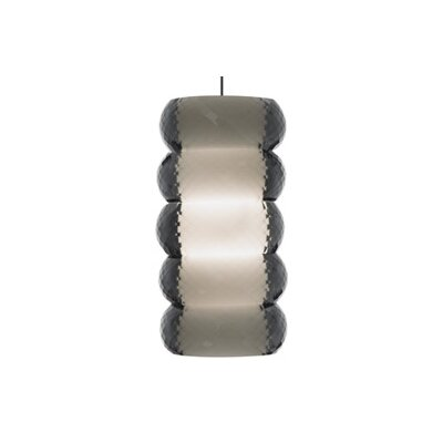 Bangle 1-Light Kable Lite Pendant Finish: Satin Nickel, Color: Gray / Smoke, Bulb Type: 1 x 50W Halogen