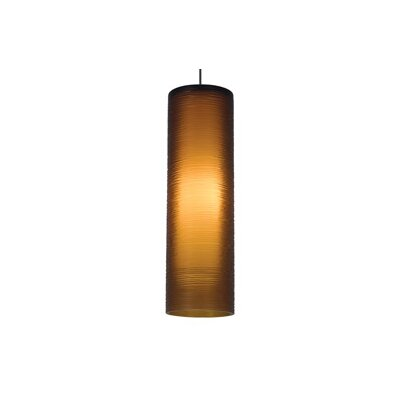 Borrego 1-Light Mini Pendant Finish: Satin Nickel, Color: Amber