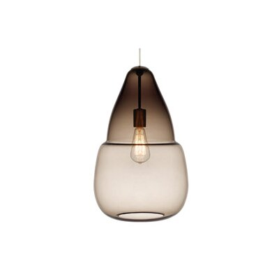 Capsian 1-Light Grande Pendant Finish: Antique Bronze, Color: Gray / Smoke, Bulb Type: 1 x 11W Fluorescent