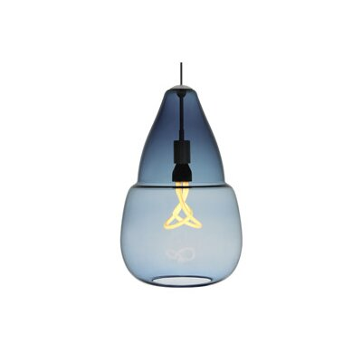 Capsian 1-Light Grande Pendant Finish: Antique Bronze, Color: Blue / Steel Blue, Bulb Type: 1 x 11W Fluorescent