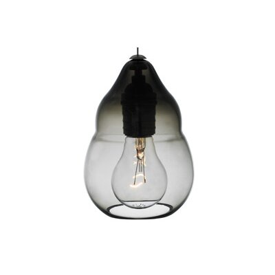 Capsian 1-Light Mini Pendant Finish: Antique Bronze, Color: Gray / Smoke