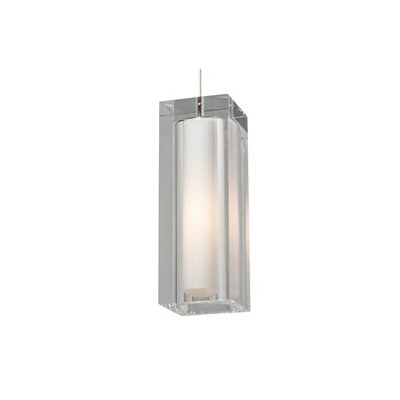 1-Light Mini Pendant Finish: White, Color: Clear, Bulb Type: 1 x 32W 277V Fluorescent