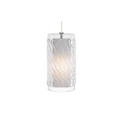 Liza 1-Light Mini Pendant Finish: Satin Nickel, Bulb Type: Fluorescent, Shade Color: Black