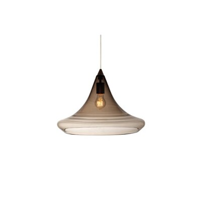 Mali 1-Light Pendant Finish: Black, Color: Smoke, Bulb Type: 1 x 11W Fluorescent
