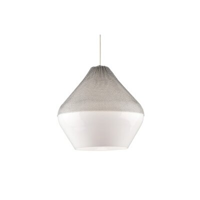 Meeka 1-Light Pendant Finish: Black, Bulb Type: 1 x 32W 120V Fluorescent