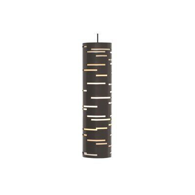 Revel 1-Light Mini Pendant Finish: Satin Nickel, Shade Color: Antique Bronze, Bulb Type: 1 x 8W LED