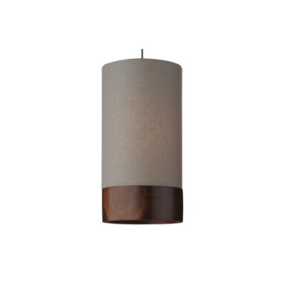 Topo 1-Light Mini Pendant Finish: Chrome, Shade Color: Gray Walnut, Bulb Type: Halogen 50W